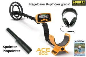 Garrett ACE 200i Metalldetektor Ausrüstungspaket