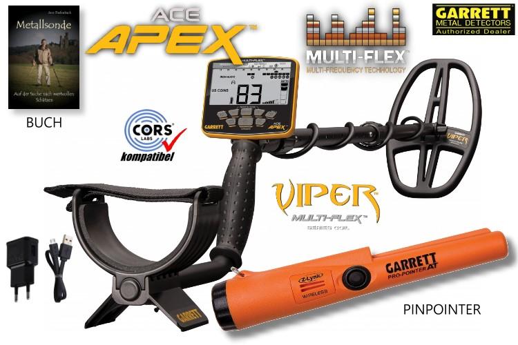 Garrett ACE APEX Metalldetektor mit Pinpointer