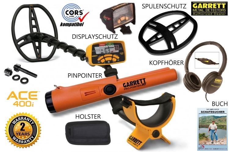 Garrett ACE 400i+ Metalldetektor & Pinpointer PRO-Pointer AT