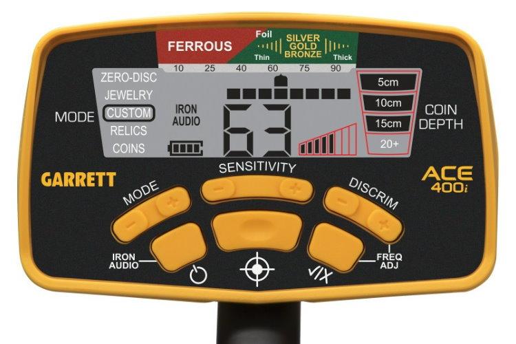 Garrett ACE 400i+ Metalldetektor & Xpointer Pinpointer